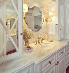 Beautiful bathroom in white colors