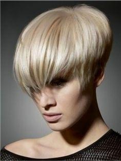 The Medium Short Straight Light Blonde Wig For Show Your Infinite Charm  Original Price: $109.00 Latest Price: $41.39