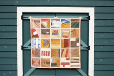 improv patchwork quilt - naturally dyed fabric by B D T, via Flickr