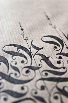 ✍ Sensual Calligraphy Scripts ✍ initials, typography styles and calligraphic art - Bertram Kaiser