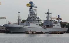 Latest photo of the never ending construction of Russian LST Ivan Gren
