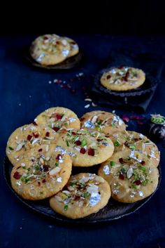 Rajasthani Mawa Kachori is a traditional Rajasthani dish which is basically fried puffed bread stuffed with sweetened and flavored khoya. Indian Dessert Recipes, Indian Sweets, Indian Snacks, Indian Recipes, Indian Foods, Rajasthani Food, Gujarati Food, Gujarati Cuisine, Diwali Food