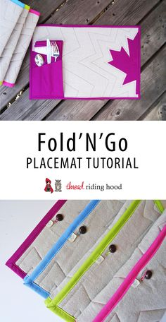 Fold-N-Go Placemat Tutorial | Thread Riding Hood