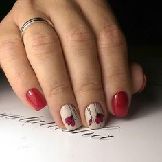 Dale un toque florar a tus uñas. #Mani #Uñas #Red