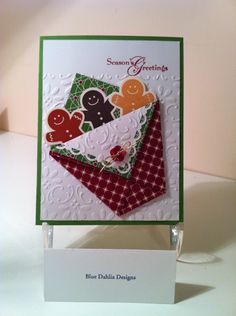 "Scentsational Season Gingerbread Men ""Seasonings Greetings"" Card...Helen: bluedahliadesigns.blogspot.com."