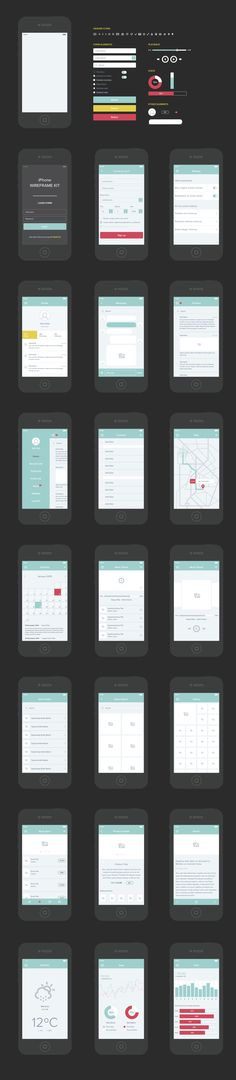 Created by UI designer Michal Koczor, the free UX Wireframe Set (AI) is a great starting point for your UX projects.