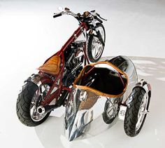 •In 2008, Airstream partnered with longtime fan Jesse James to create a one-of-a-kind motorcycle and sidecar featuring Airstream design elements.