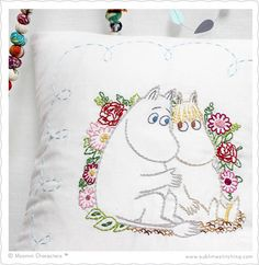 Sublime Stitching - MOOMIN™ Embroidery Transfers from Sublime Stitching Embroidery Tools, Embroidery Transfers, Embroidery Patterns Free, Machine Embroidery Applique, Modern Embroidery, Cross Stitch Embroidery, Hand Embroidery, Little My Moomin, Tove Jansson