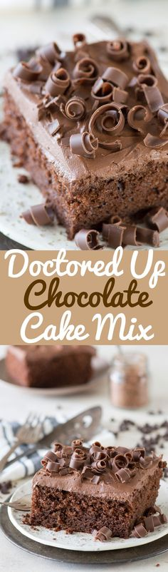 This is hands down our favorite doctored up chocolate cake mix recipe! Doesnt use pudding or coffee which is great. Always get tons of compliments on it! Cupcake Recipes, Baking Recipes, Cupcake Cakes, Dessert Recipes, Pudding Recipes, Cake Cookies, Baking Ideas, Poke Cakes, Pie Recipes