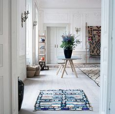 As if Hay weren't cool enough, the Danish design brand du jour has opened up a monthlong vintage pop-up in Copenhagen selling amazing rugs of the Moroccan berber and Bouchourite variety. Yes, that's the sound of our head exploding that we aren't in Copenhagen. Live vicariously here.