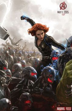 Black Widow concept art from Marvel's Avengers: Age of Ultron by Andy Park