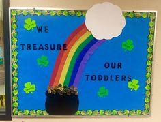 St. Patrick's Day bulletin board idea.