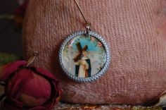 Saint Rose of Lima devotional medal by diddywadiddy on Etsy https://www.etsy.com/listing/255827256/saint-rose-of-lima-devotional-medal