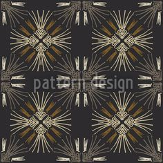 Theodora by Gill Eggleston available for download on patterndesigns.com Star Ornament, Surface Pattern Design, Vector Pattern, Patterns, Stars, Abstract, Floral, Graphics, Block Prints