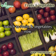 Switch to Fruits & Vegetables now. Fruit, Vegetables, Gallery, Food, The Fruit, Veggies, Veggie Food, Meals, Vegetable Recipes