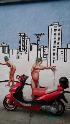 San Francisco Graffiti, Street Art, San Francisco, Painting, St Francis, Painting Art, Paintings, Graffiti Illustrations, Painted Canvas