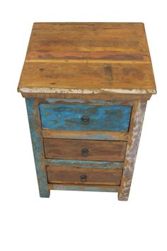 Indian Bedside Table 3 Drawer beautifully by ChattelsTrading