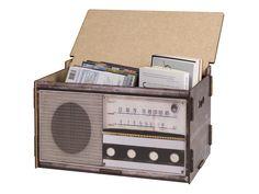 Caixa Baú Vitrola | Móveis para Organizar | Meu Móvel de Madeira