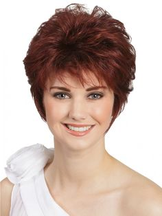 Red Afro Short pixie cut style wig with bangs straight Synthetic african american wigs for women (Size: One Size, Color: Red) Short Hair With Bangs, Wigs With Bangs, Short Curly Hair, Short Hair Cuts, Curly Hair Styles, Natural Hair Styles, Short Pixie, Thin Hair, Short Haircuts 2014