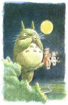 My Neighbor Totoro Perch Art Miyazaki Anime Poster 11x17