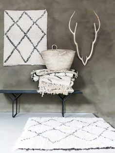 Totally in love with the handmade beni ouarain rugs! We have also small sizes available for your little ones. www. Decor, Creative Studio, Interior, Rugs On Carpet, Lime Paint, Tribal Rug, Interior Rugs, Painting Bathroom, Interior Design
