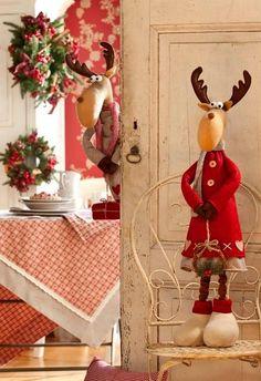 me ~ 55 Amazing Christmas DIY Crafts Design Ideas Christmas Moose, Christmas Sewing, Handmade Christmas, Christmas Crafts, Christmas Ornaments, Christmas Themes, Christmas Decorations, Holiday Decor, Christmas Holidays