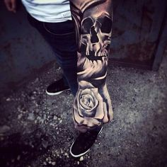 Rose skull tattoo                                                                                                                                                                                 More