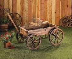 Old-time Buckboard Styling Rustic Wagon