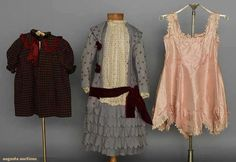 Three Little Girls' Garments, 1860-1880s, Augusta Auctions, MAY 13th & 14th, 2014, Lot 232