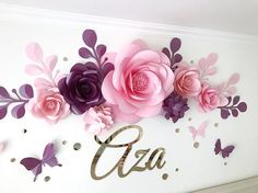 When I was s child my mother used to make sweet decorations for my birthday. The Night before my Birthday she sneaked into my room when I was sleeping and released balloons, or hang garlands with pom poms. And it really was the best and the most memorable surprise ever. This pretty cool idea of decorating the wall with paper flowers ( and name or number) seems to me very creative. After ganging the paper flower set on the wall you and your child would be in awe of how beautiful and dreamy…
