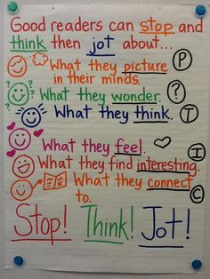 Ela anchor charts: stop and jot reading lessons, reading resources, reading Reading Lessons, Reading Strategies, Reading Skills, Teaching Reading, Guided Reading, Close Reading, Reading Comprehension, Reading Buddies, Reading Tips