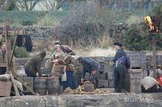 Photos of 'Outlander' Filming at Dunure Harbor, Ayrshire | Outlander TV News