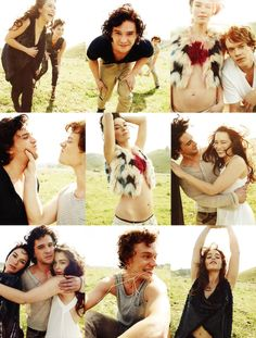 Game of Thrones cast being beautiful.