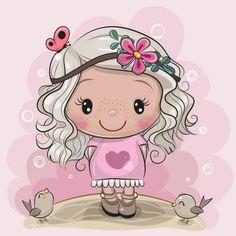 Cartoon Tiger, Kitten Cartoon, Cartoon Elephant, Cartoon Unicorn, Cute Cartoon Girl, Cute Cartoon Animals, Cute Animal Drawings, Cute Drawings, Tatty Teddy