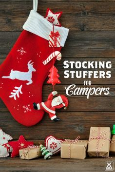 KOA's 2016 Stocking Stuffer Guide - find the perfect last minute gift for your favorite camper! Gifts For Campers, Camping Gifts, Camping Hacks, Last Minute Gifts, Stocking Stuffers, Gift Guide, Christmas Stockings, Party Themes, Chips