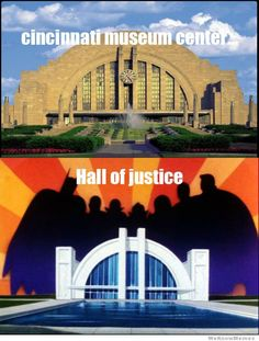 The Cincinnati Museum Center was DC Comics inspiration for the Hall of Justice