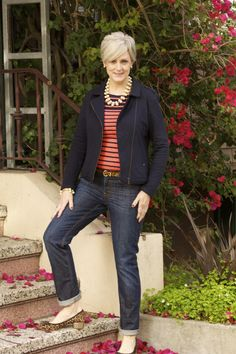 Style at a certain age - singin' the blues: denim @JCrew;...
