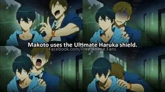 I don't really like Free! that much but this is funny.