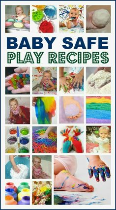 An amazing collection of easy to make play recipes that are safe for babies