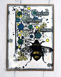 Script, Bee, Stamp, Crafty, Cards, Design, Script Typeface, Honey Bees, Stamps