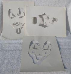 Rare ICP Insane Clown Posse Pumpkin Spray Paint Stencils Set ...