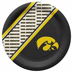 Iowa Hawkeyes Disposable Paper Plates Duck House http://www.amazon.com/dp/B00NQ66R8O/ref=cm_sw_r_pi_dp_90sAwb0RBD5J2