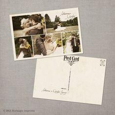 "Vintage Wedding Postcard Thank You Cards - the ""Adrianna"". $39.00, via Etsy."