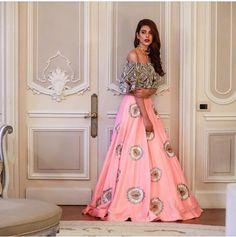 Shantoon Party Wear Lehenga Choli In Pink Colour Bollywood Lehenga, Lehenga Choli, Saree Gown, Indian Lehenga, Party Wear Lehenga, Bridal Lehenga, Indian Attire, Indian Ethnic Wear, Indian Style