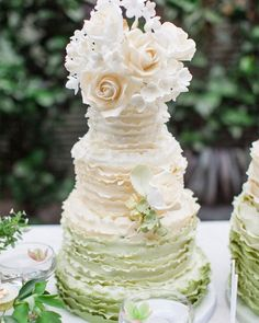 45 Beautiful Ideas Wedding Cake 2021 ❤ wedding cake trends Ombre wedding cake elizabethscakeemporium #weddingforward #wedding #bride