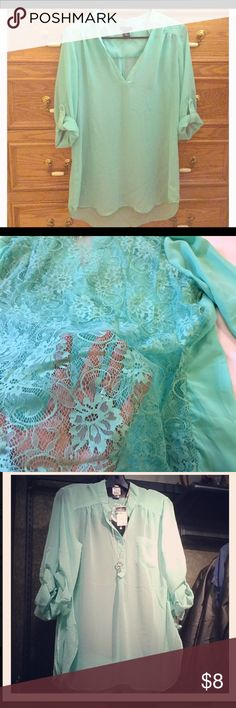 Mint color Blouse This is a Rue 21 Blouse, Mint color and in excellent condition, is absolutely gorgeous. Rue 21 Tops Tees - Long Sleeve