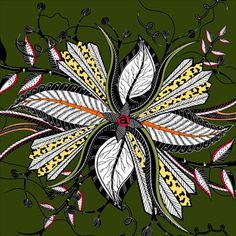 Hippo Flower Fabric (Ardmore)
