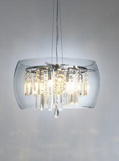 Dar LOC058 Loco Clear 5 Light Pendant from Lights 4 dining room