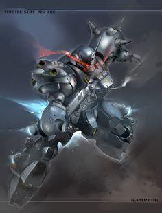 Kampfer Super Soldier, Mecha Anime, Gundam Model, Mobile Suit, Gundam Art, Gundam Wing, Cyberpunk, Science Fiction, Weapons