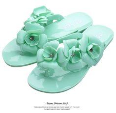 Nova Moda Verão Mulheres Sandálias Flat de Bling Bling Sandálias Chinelos Para…